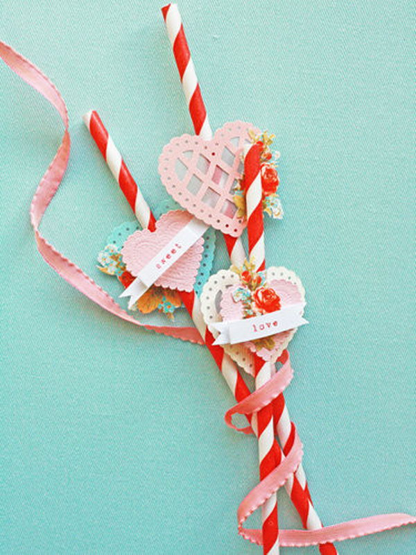 Sweet Straw Valentine's Gift. See more directions