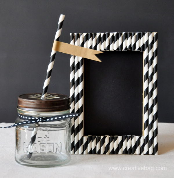 Paper Straw Frames. Get the tutorial