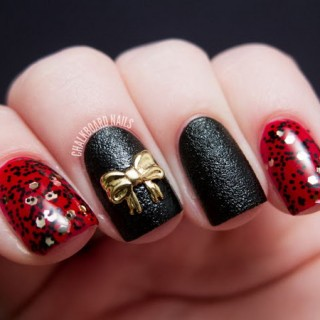 45 Wonderful Bow Nail Art Designs