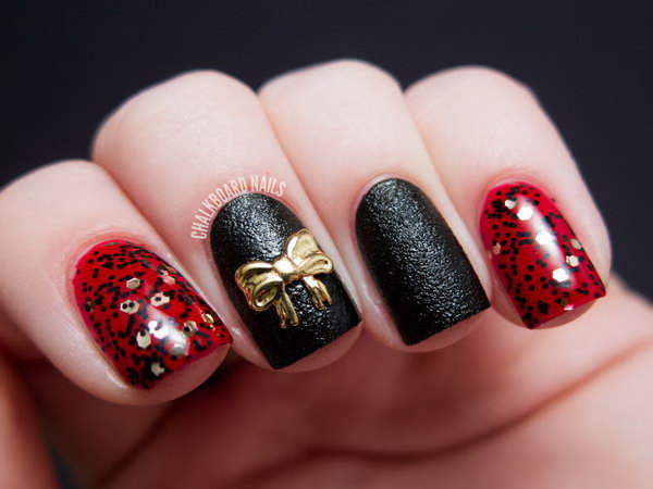 1 bow nail design ideas