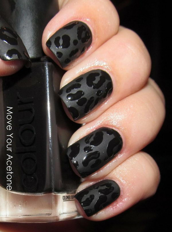1 cheetah leopard nail designs