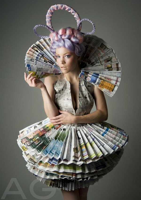 1 creative newspaper craft fashion ideas