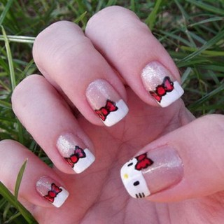 Cute Hello Kitty Nail Art Designs