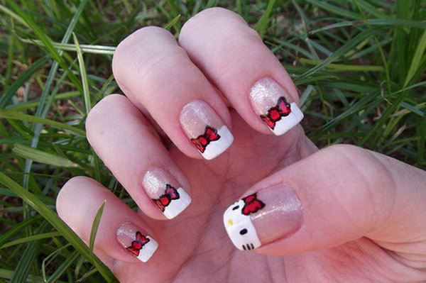 1 cute hello kitty nail art designs