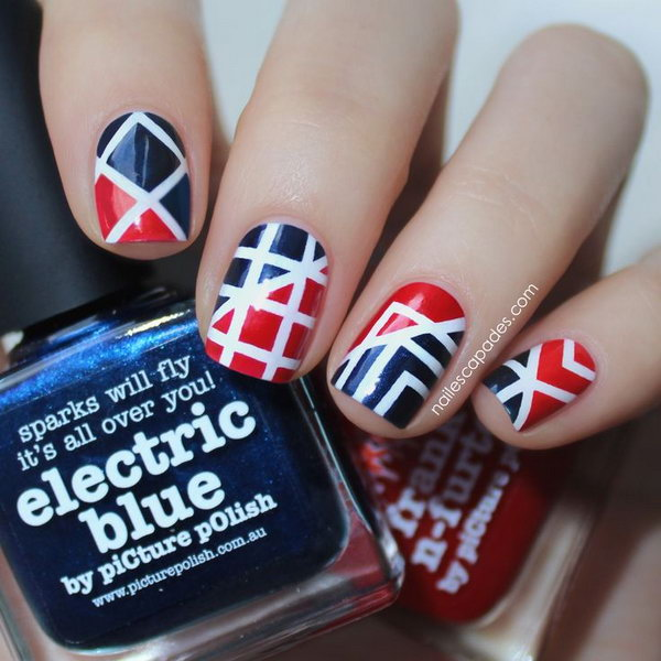 1 geometric nail art