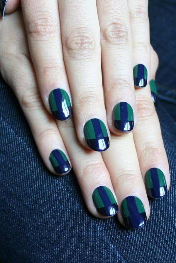 Green nail designs green nail art which can be combined with patterns of grass christmas tree or prinsesfo Gallery