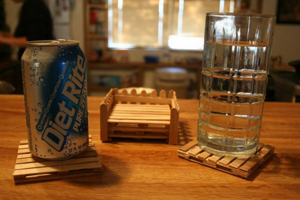 1 pop stick pallet coasters