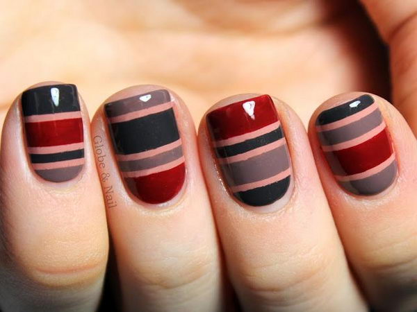 1 stripe nail designs