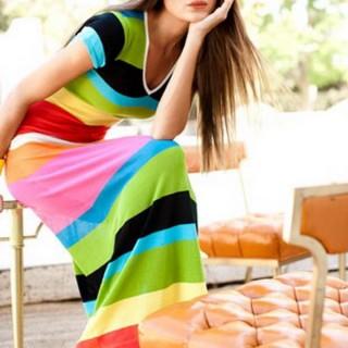 30 Gorgeous Rainbow Colored Dress Designs