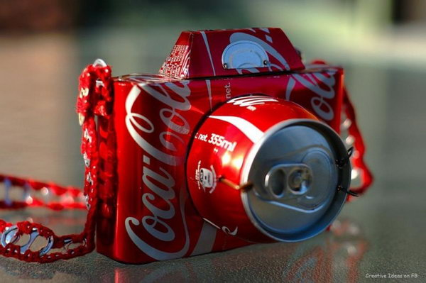 7 camera recycled coca cola can