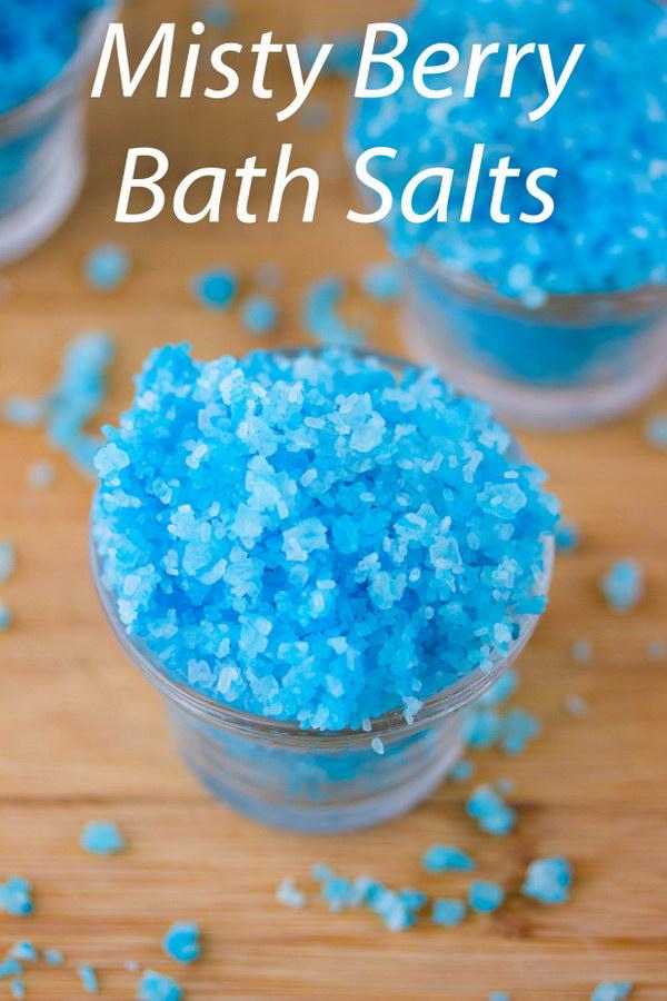 Homemade Misty Berry Bath Salts.