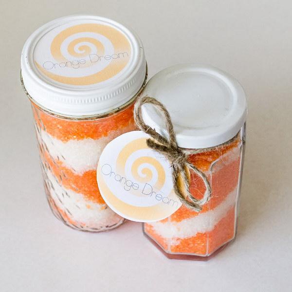 Homemade Orange Dream Bath Salts.