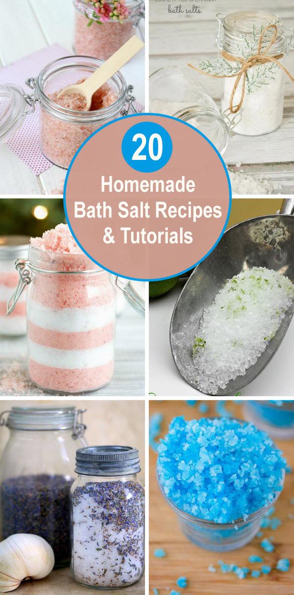 Homemade Bath Salt Recipes & Tutorials.