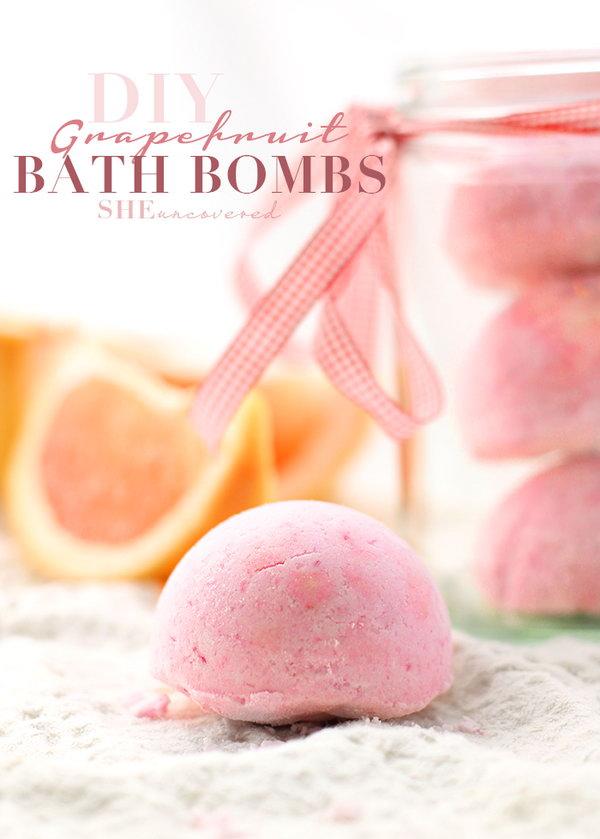 DIY Grapefruit Bath Bombs