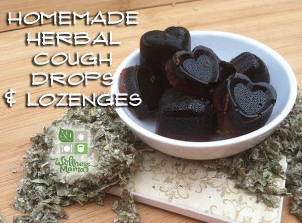 Homemade Herbal Honey Cough Drops and Lozenges. You will be happy with this all natural homemade cough drop. It doesn't contain any artificial colors, flavors or chemicals and are great for kids. Recipe and tutorial via
