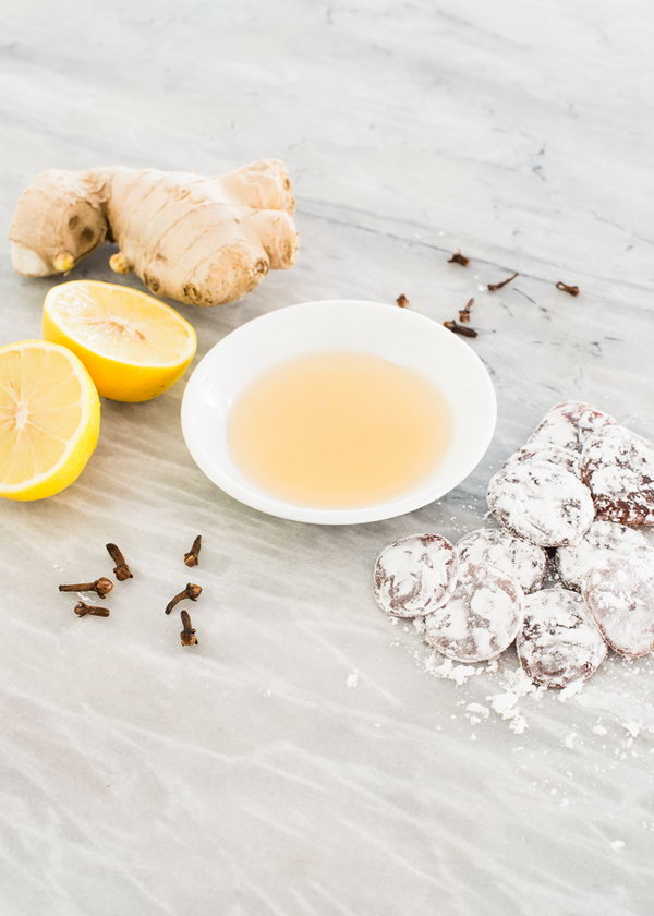Lemon Ginger Clove Homemade Cough Drops. Really easy to make with simple ingredients in your kitchen and do help soothe a scratchy, tickly throat a bit. Follow the recipe and tutorial via