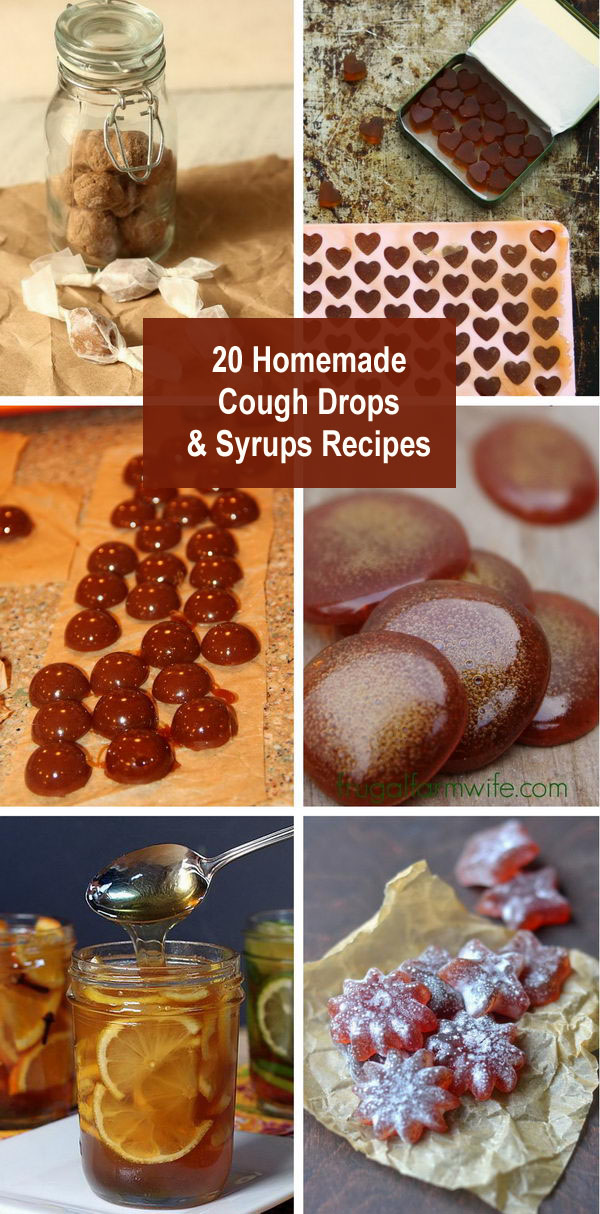 Homemade Cough Drops and Syrups Recipes