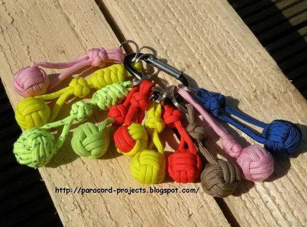 DIY Paracord Monkey Fist Knot