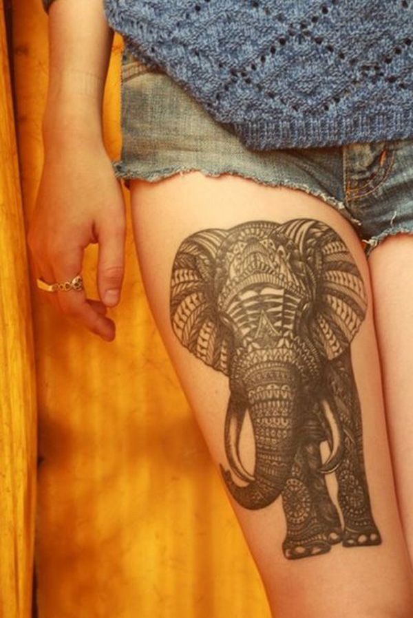 Elephant Leg Tattoo.