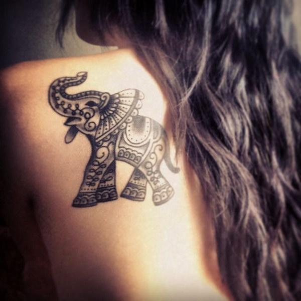 Cool Elephant Tattoo.