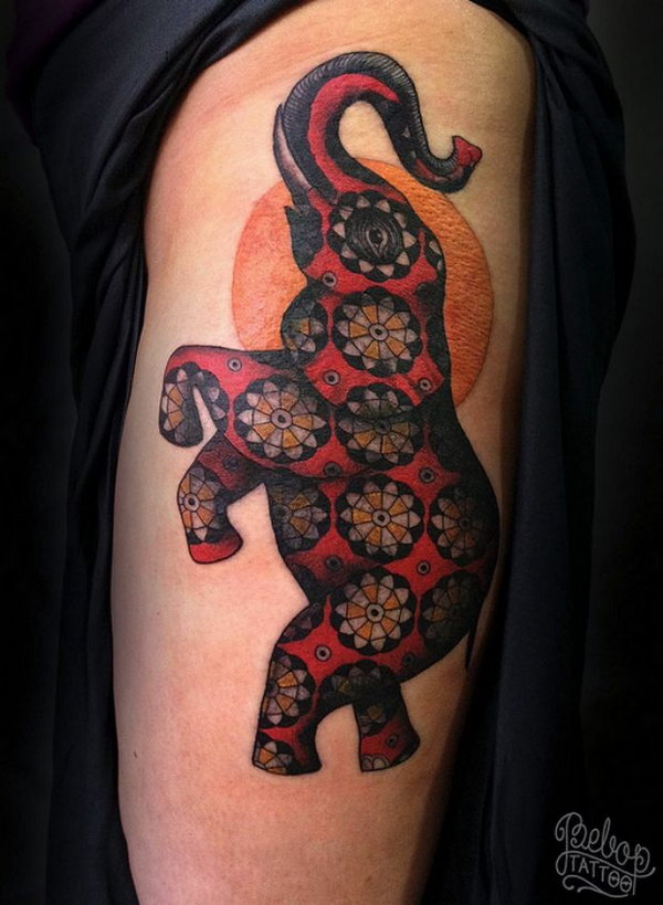 Beautiful Elephant Tattoo.