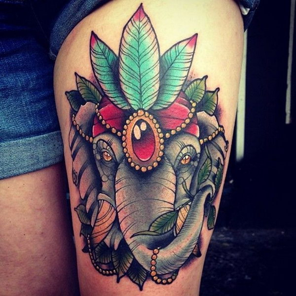 Amazing Traditional Tattoo for Girl.