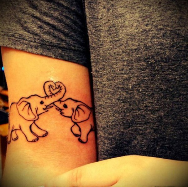 Cute Elephant Tattoo.