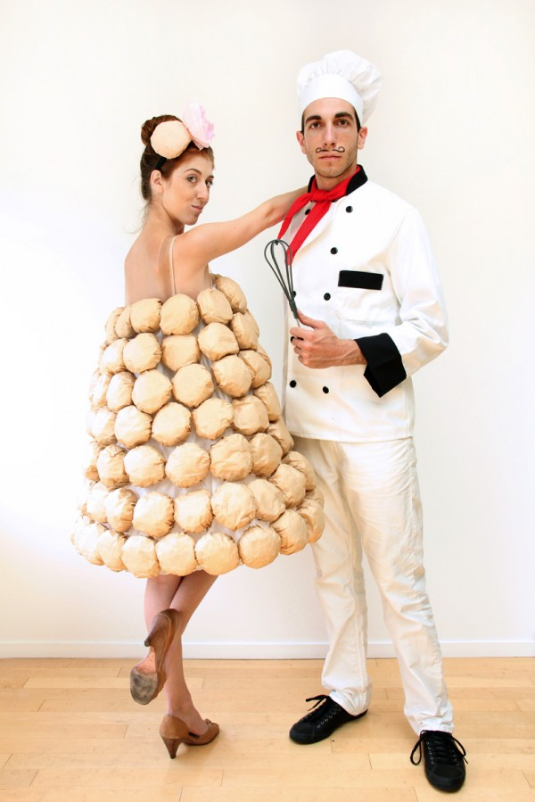 French Chef and Macaron Couple Costumes.