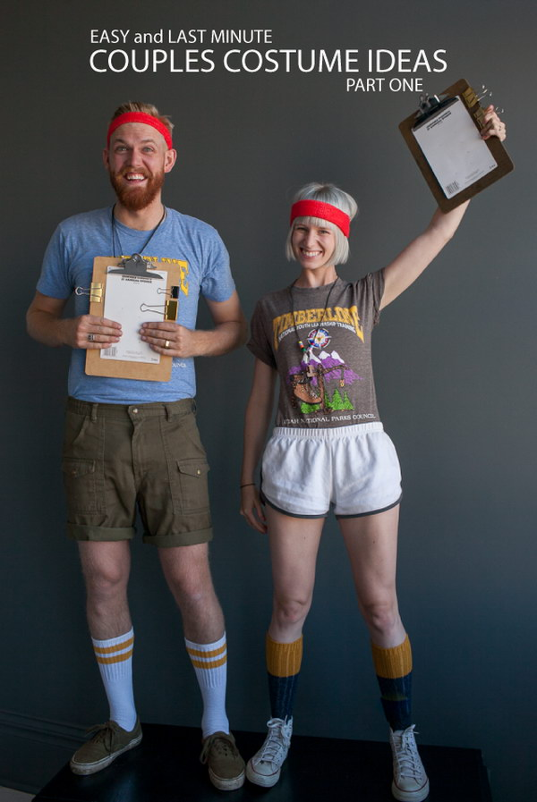 Camp Counselors Couple Costumes.