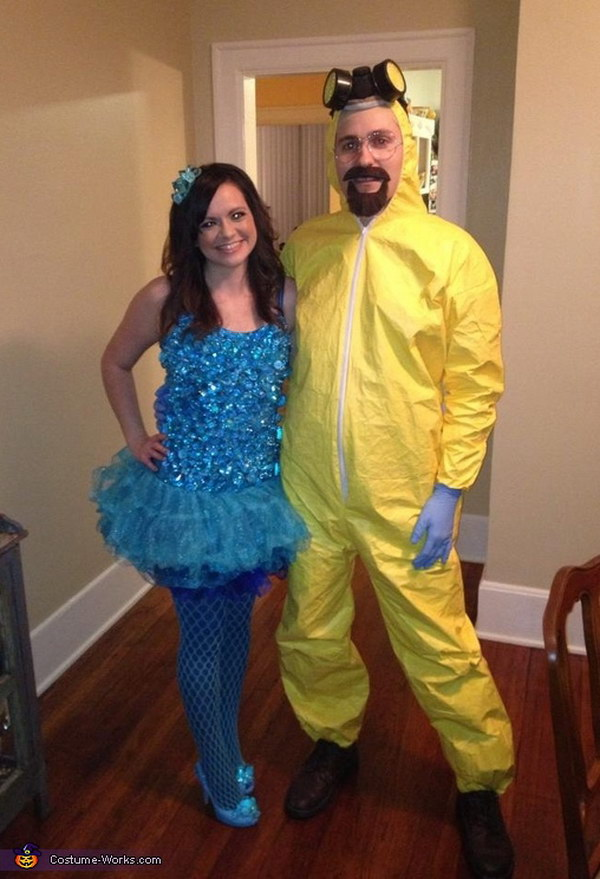 Blue Meth and Walter White Couple's Costume.