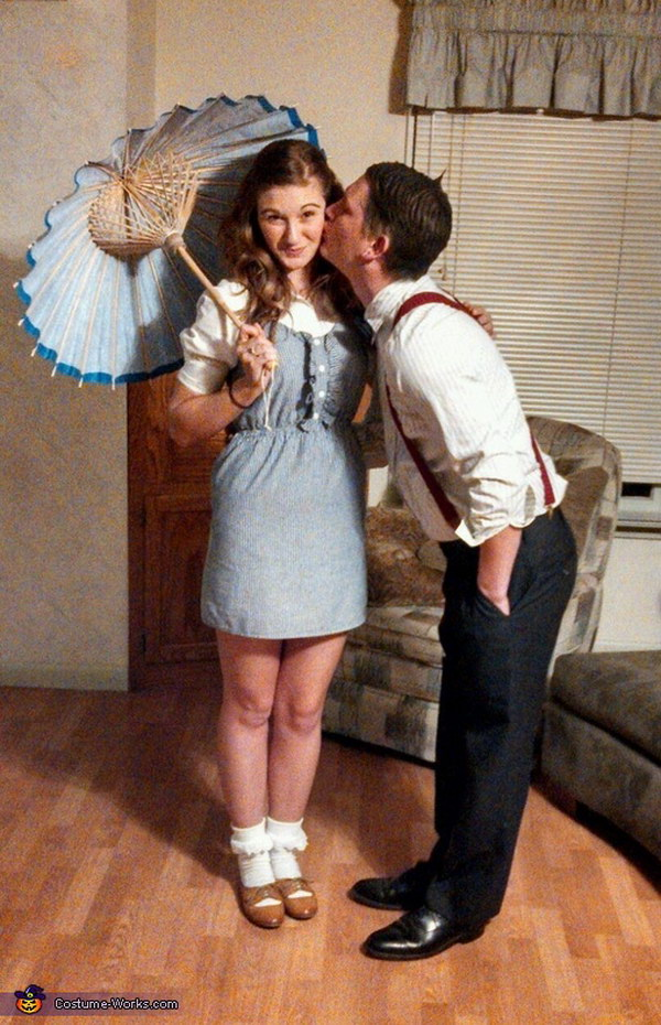 Darla and Alfalfa Couple Costume.