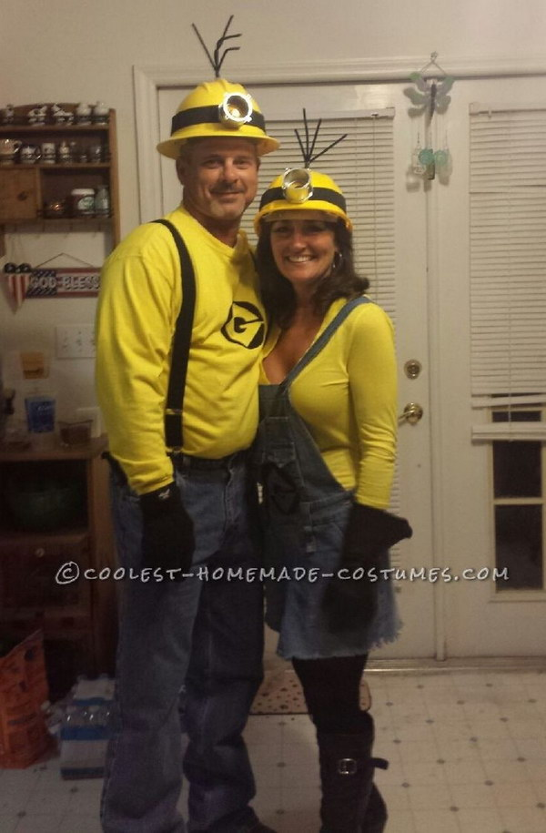 Mellow Yellow Adult Minion Couples Costume.