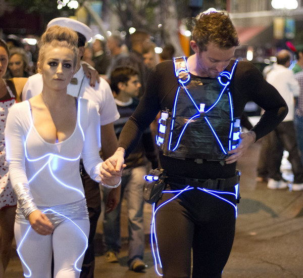 Eye catching Tron Duo Couple Costume.