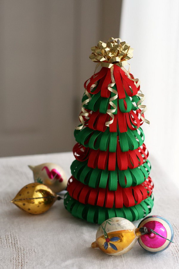 Handmade Ribbon Christmas Tree.