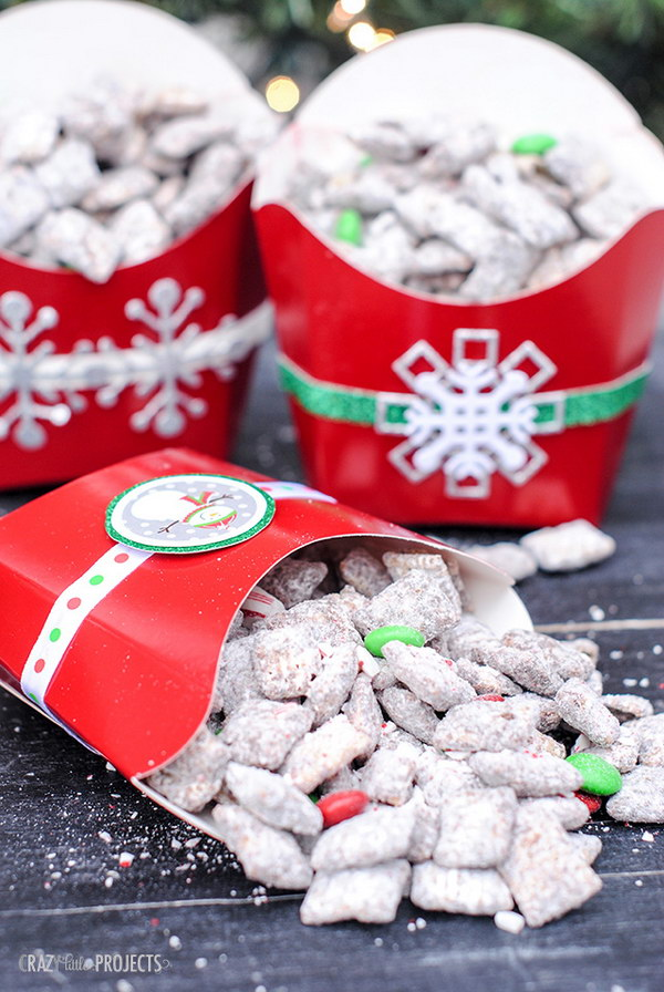 Chocolate & Candy Cane Muddy Buddies.
