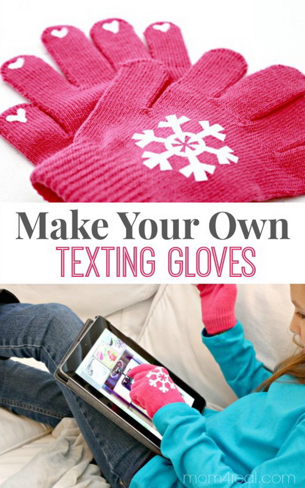 DIY Texting Gloves.