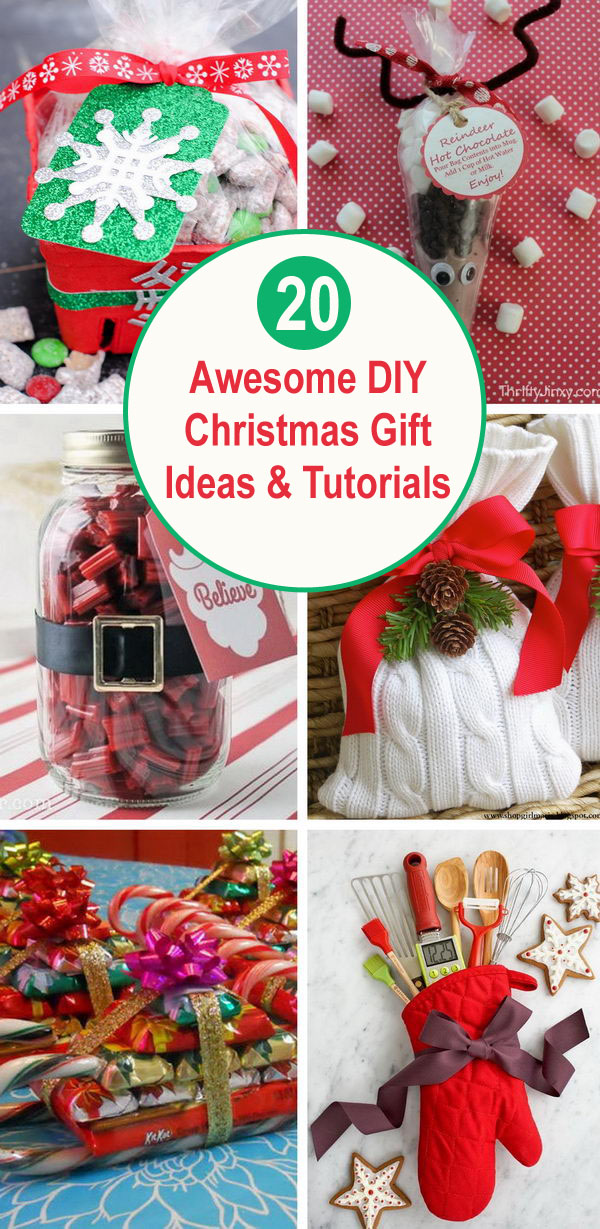 20+ Awesome DIY Christmas Gift Ideas & Tutorials.