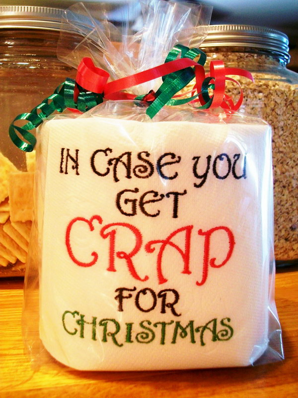 embroidered toilet paper christmas gag gift - Funny Gag Gifts For Christmas