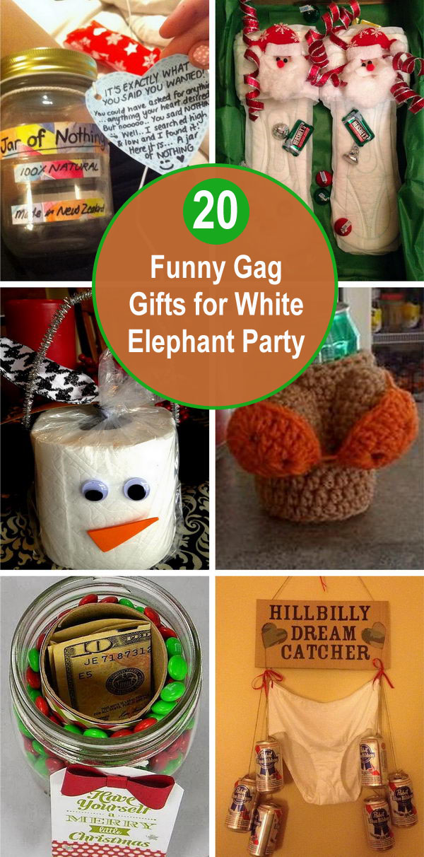 20 Funny Gag Gifts for White Elephant Party.