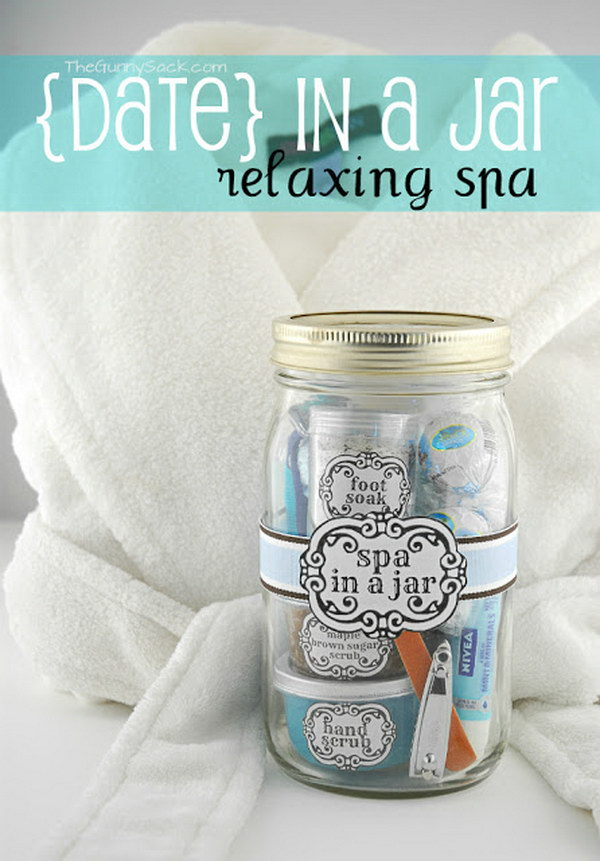 Spa In a Jar Gift.