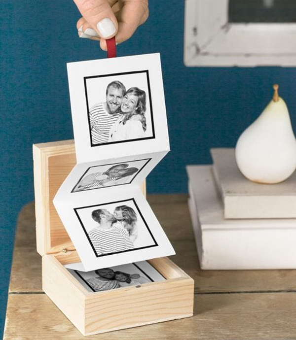 DIY Pull Out Photo Album. Another creative DIY photo gift idea for your friends. It must give him or her a big surprise!