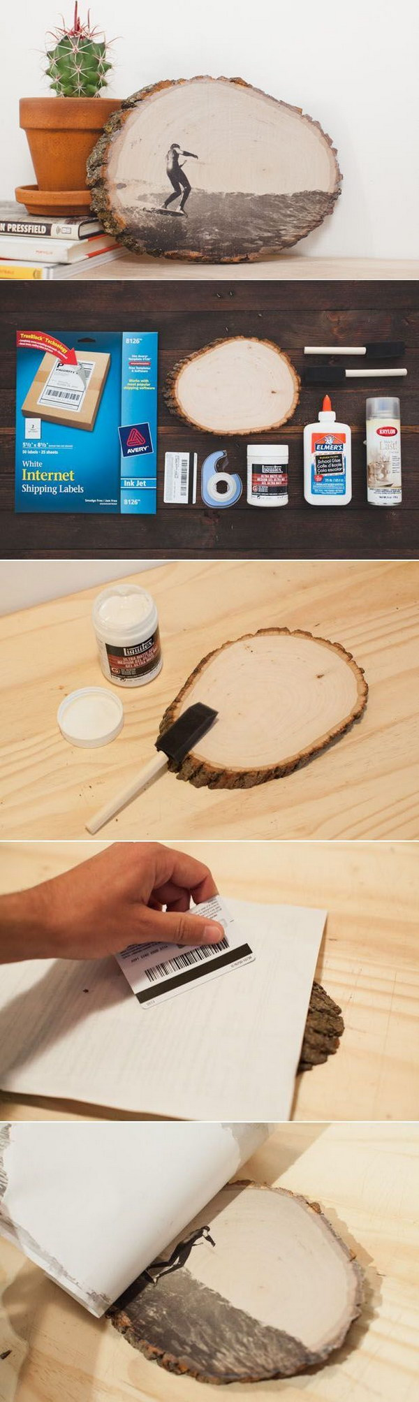20 diy photo gift ideas tutorials styletic for Transfer picture to wood inkjet