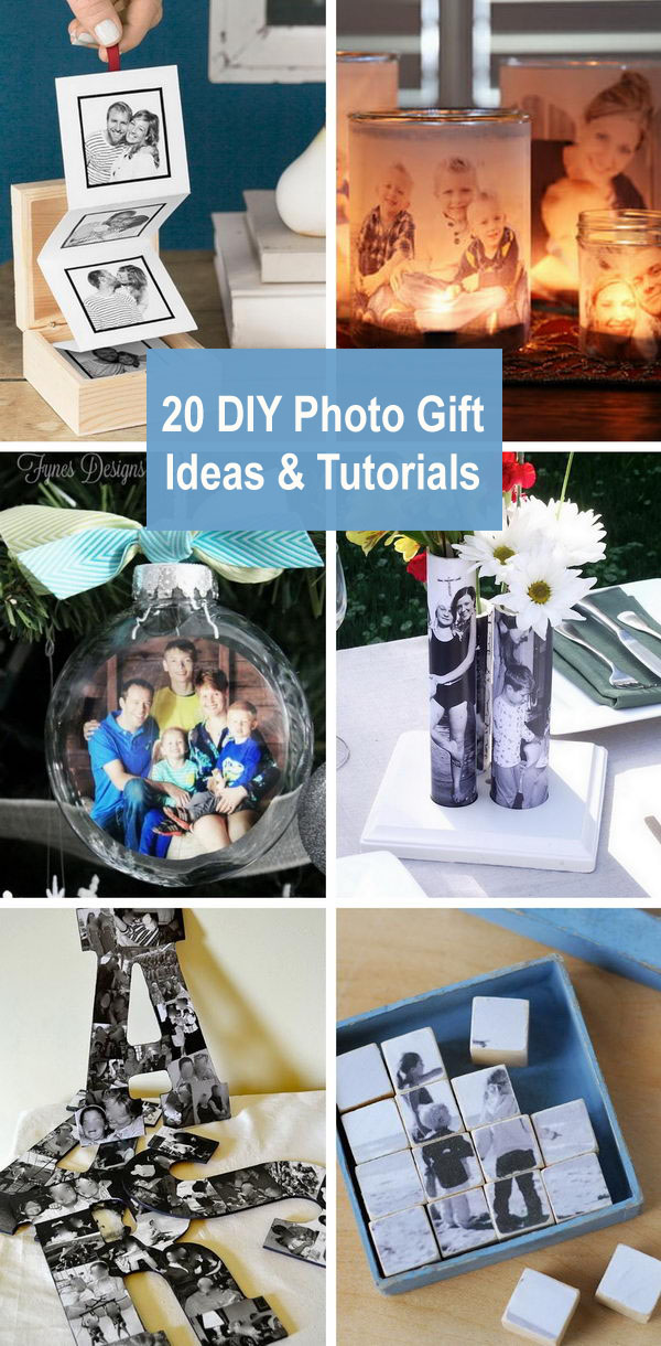 20 DIY Photo Gift Ideas & Tutorials.