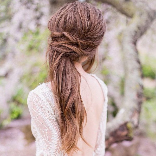55 stunning half up half down hairstyles half up half down hair for wedding hairstyles junglespirit Images