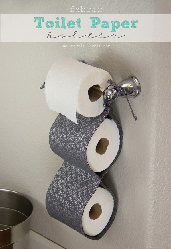 DIY Fabric Toilet Paper Holder.