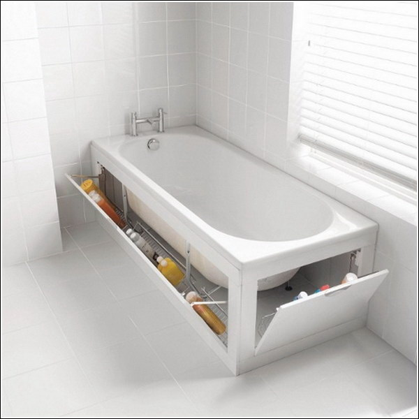 Under the Bathtub Storage.