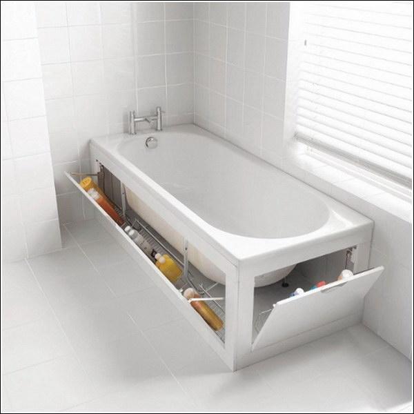 Under the Bathtub Storage.