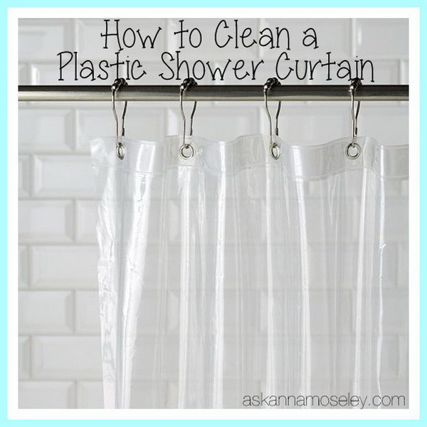 Hacks to Clean a Plastic Shower Curtain.