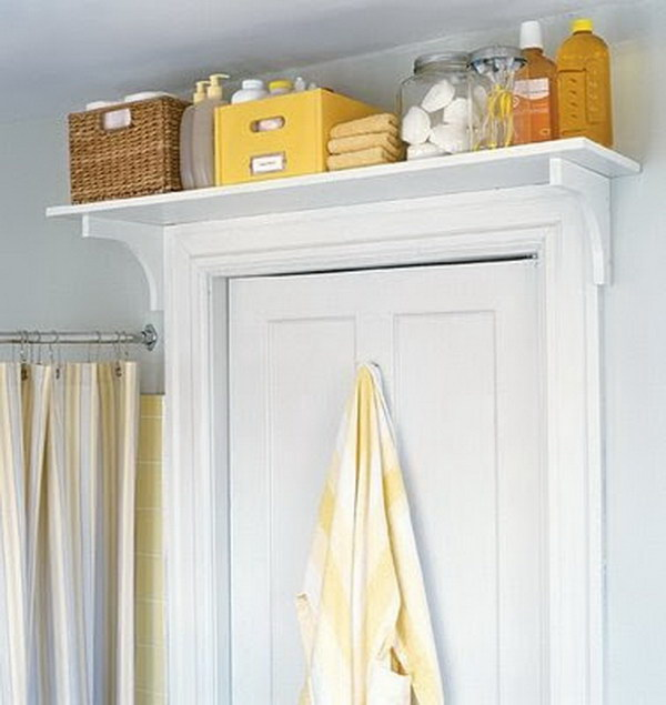Over the Door Shelf for Bathroom Storage.