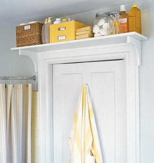 Over the Door Shelf for Bathroom Storage.